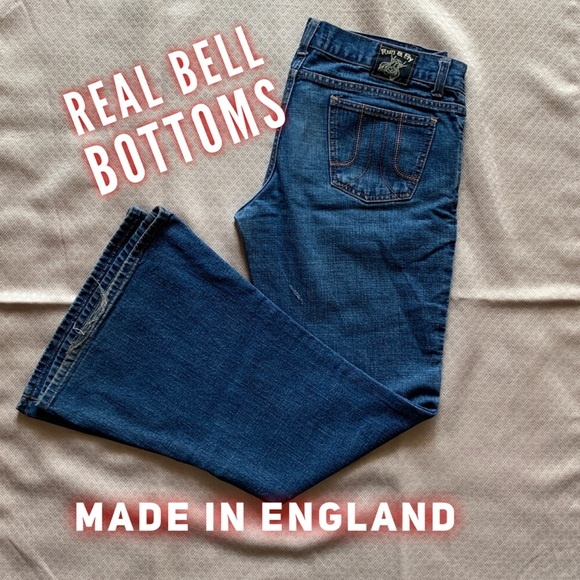 Other - 🔥 REAL bell bottom jeans made in England